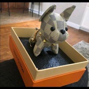 Louis Vuitton dog key chain